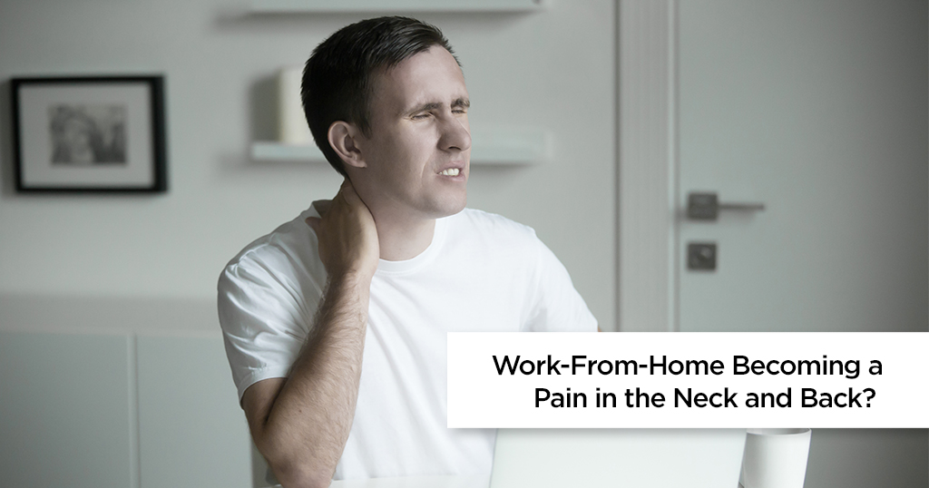 how to deal with back and pain while working from home