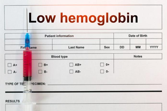 low hemoglobin count